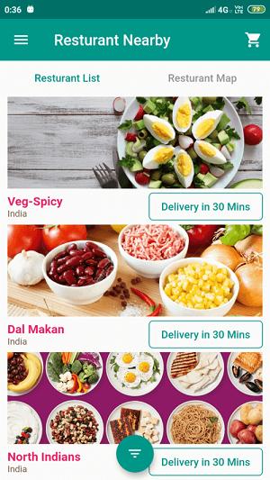 Flutter Food Ordering App Theme Template