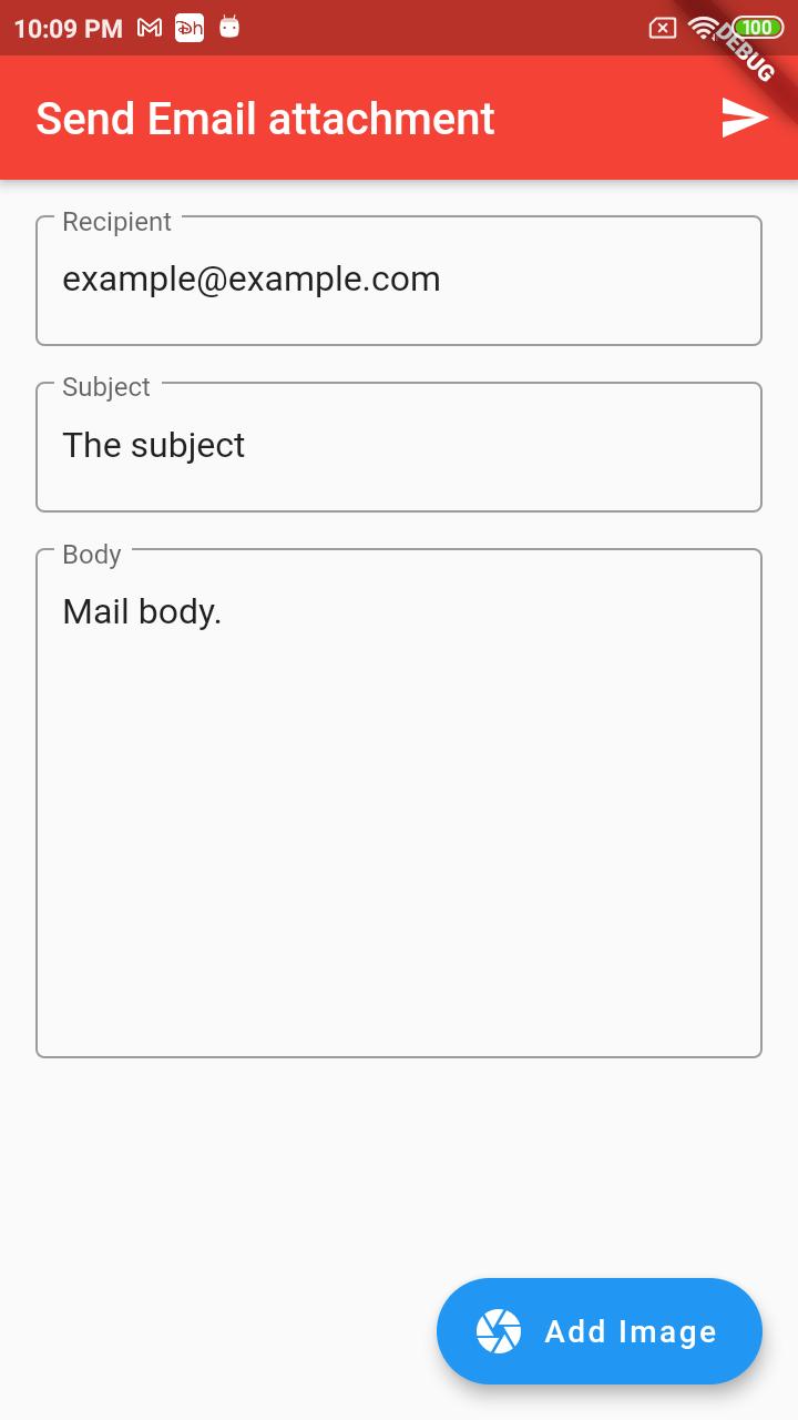 Email attachment flutter
