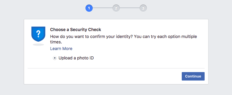 Facebook Manager Business security check