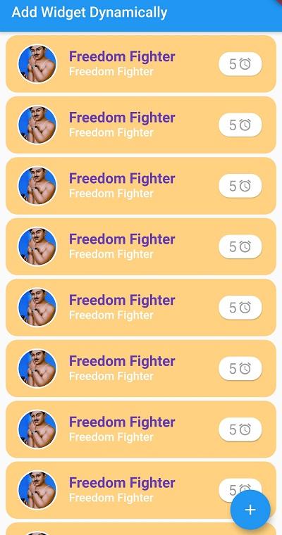 Flutter how to add dynamic widgets