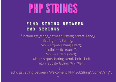 Php Stirng - Find String Between Two Stirngs