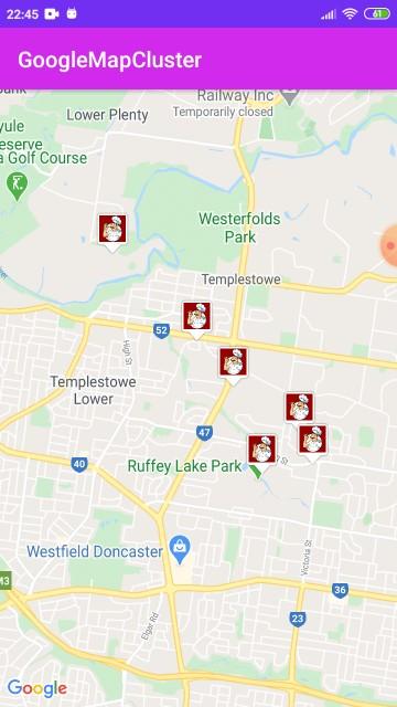 Googlemaps Custome Marker Clustering