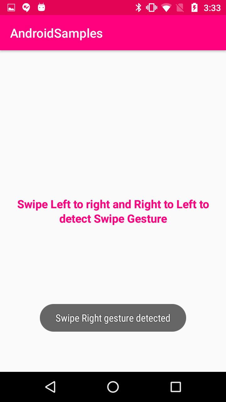 Kotlin - Android Swipe Gesture