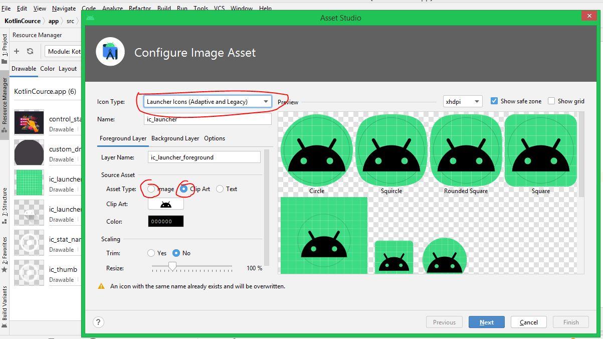 App icon generator android studio