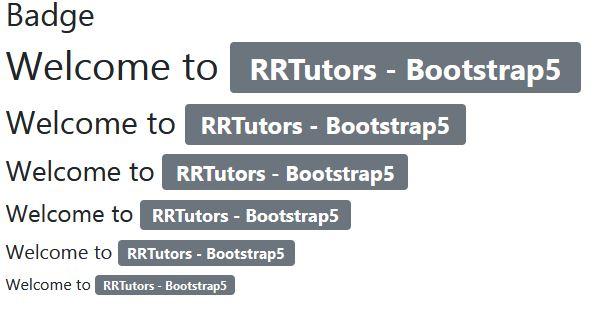 Bootstrap5 badge