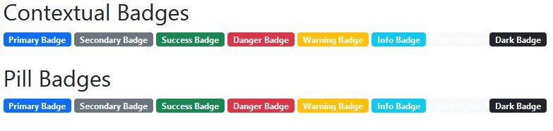 css create contextual badges