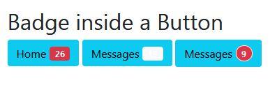 Create badge inside button