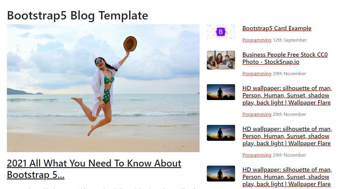 Bootstrap5 blog template