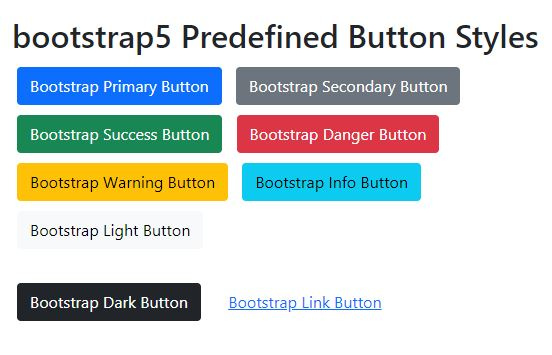 How to create button with bootstrap