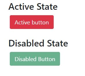 How do i make button active, disable state with bootstrap