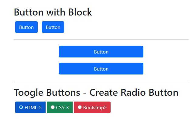 How to create Radio buttons bootstrap