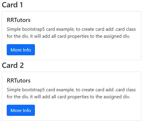 How do i create html card with bootstrap5