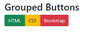 How do i group the buttons bootstrap