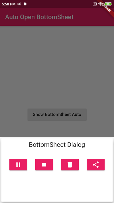 Show BottomSheet on Screen load Flutter