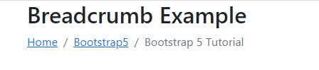How can i create BreadCrumbs in html  with bootstrap