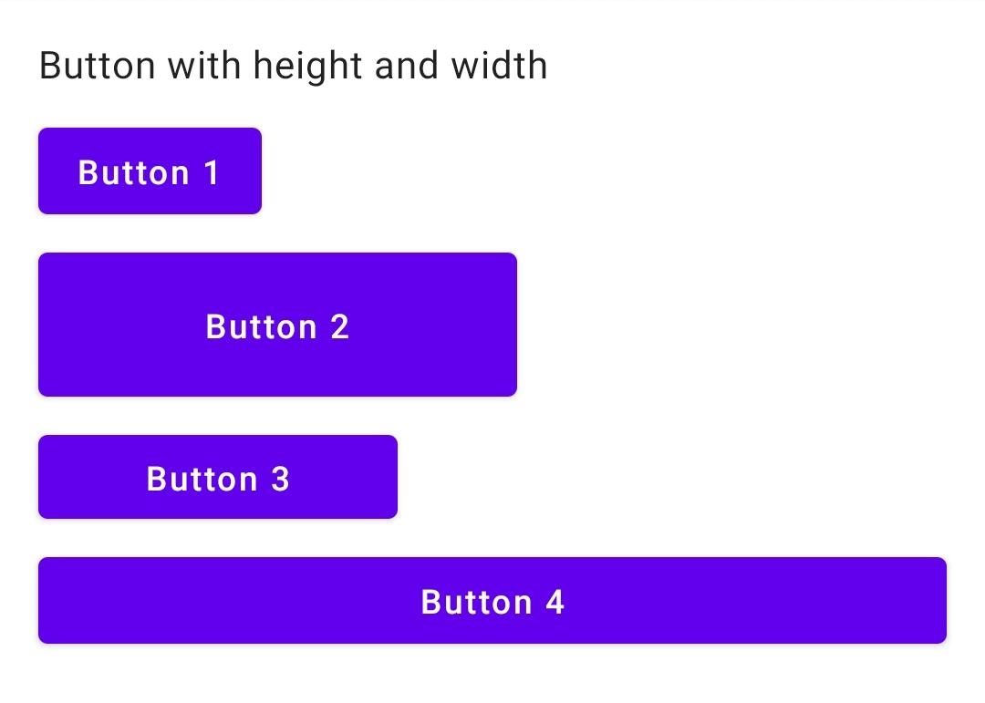 Custom height and width to button with compose