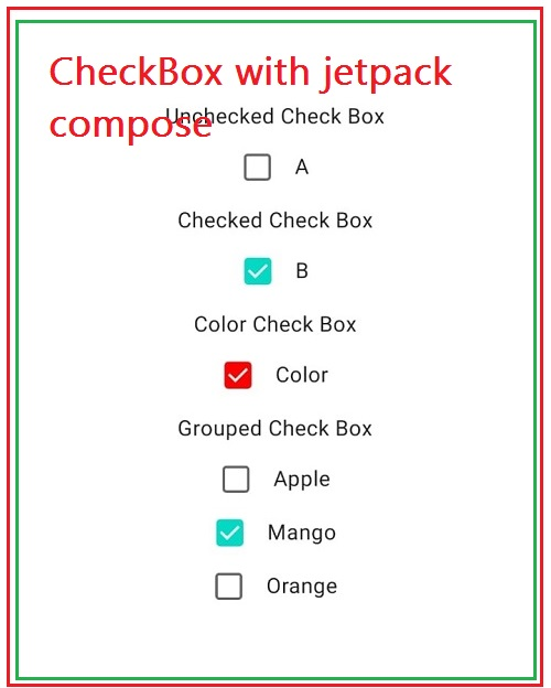 Create Checkbox with jetpack compose