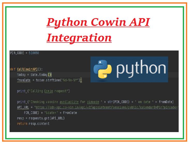 Python Cowin API integration