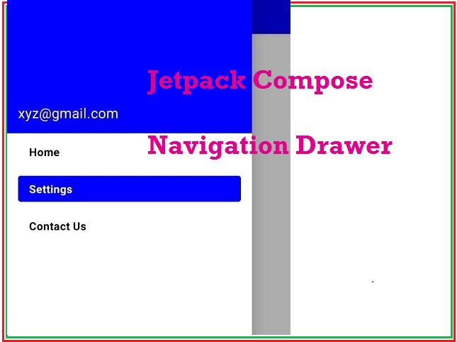 Jetpack Compose NavigationDrawer example
