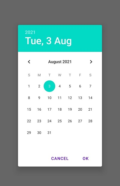 How to create date picker dialog with Jetpack compose