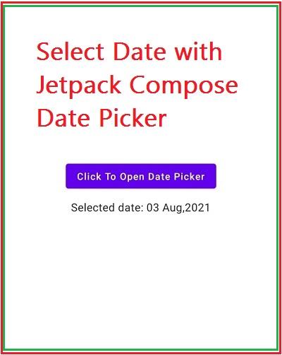 Jetpack compose Datepicker dialog