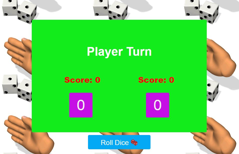 Dice Game with HTML javascript