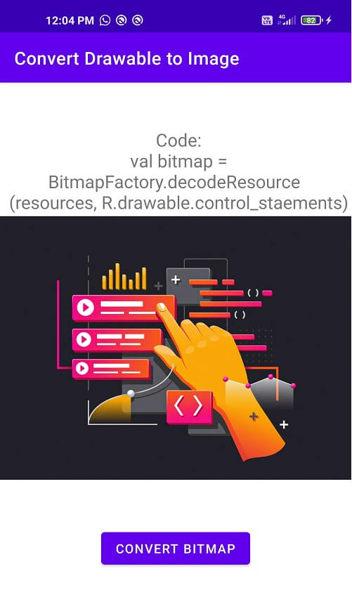 Convert Drawable to Bitmap android
