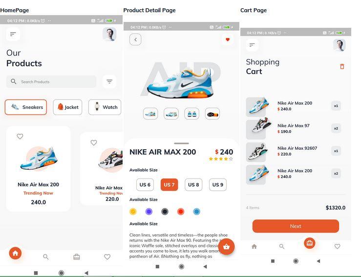 Flutter E Commerce Application template