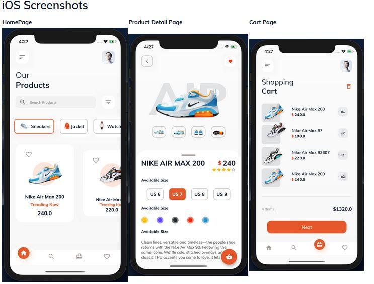 Flutter ECommerce Application template