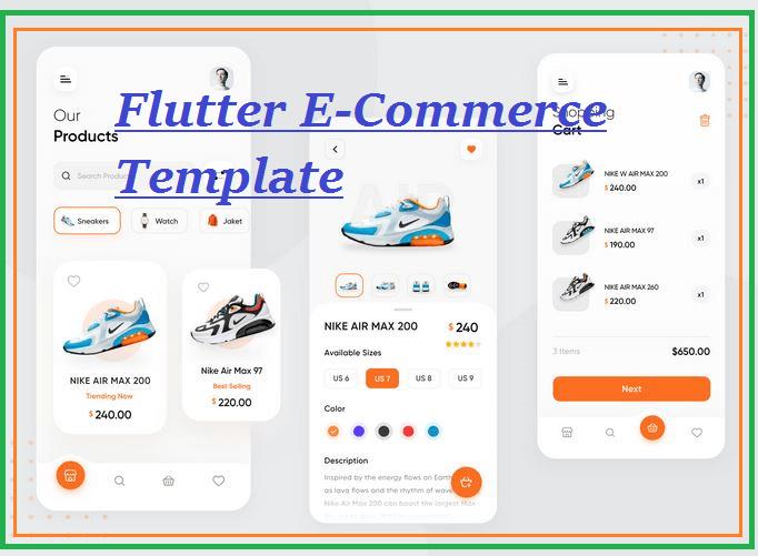 Flutter ecommerce app template app