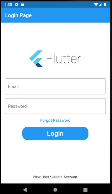 Flutter Login Page
