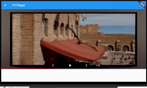 Flutter TV app with video player