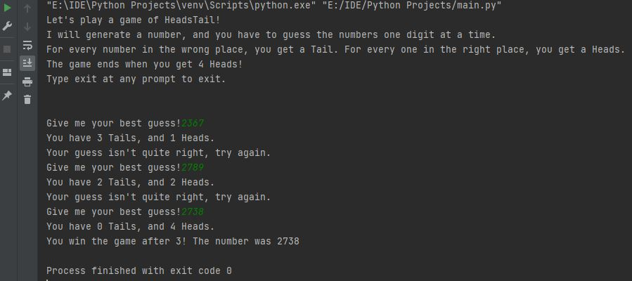 Python Heads and Tails Game