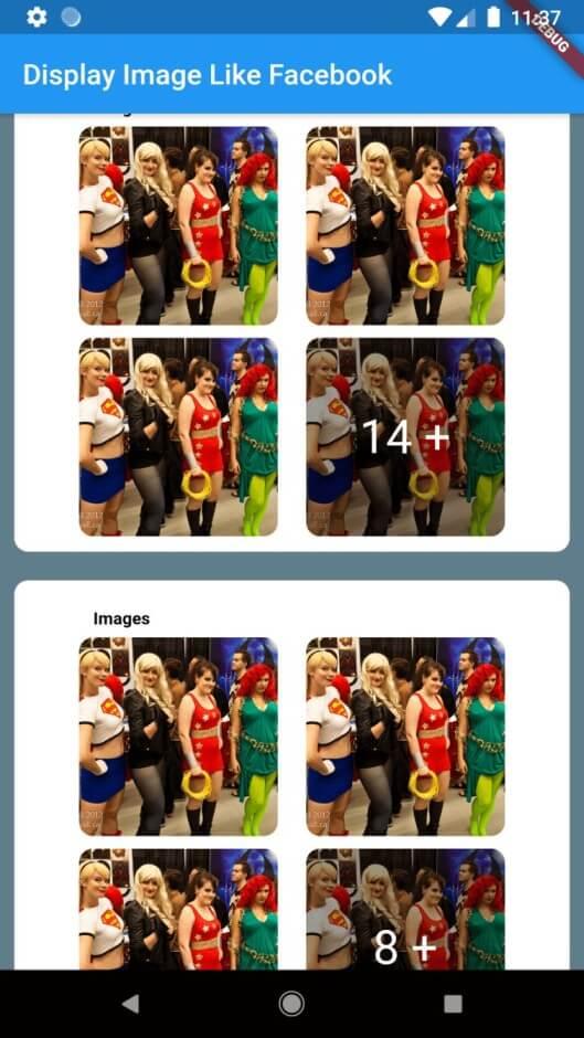 Display Images like facebook