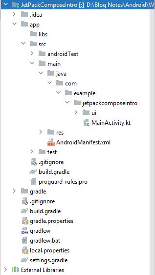 Android studio Create Jetpack Compose Project