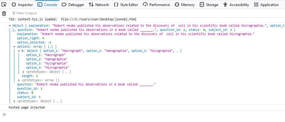 Javascript JSON Parser