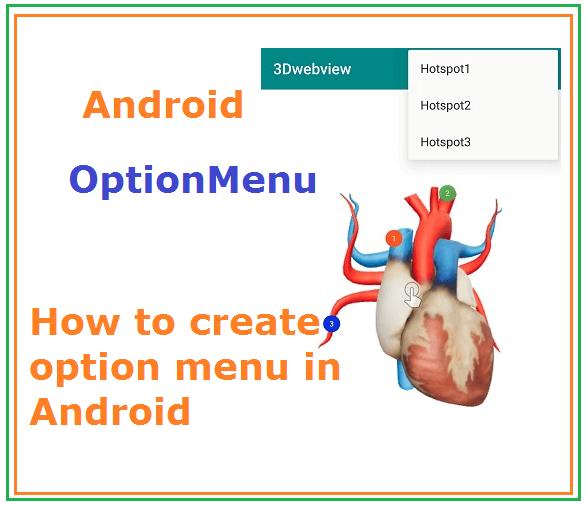 Android Option Menu - How to create option menu with toolbar