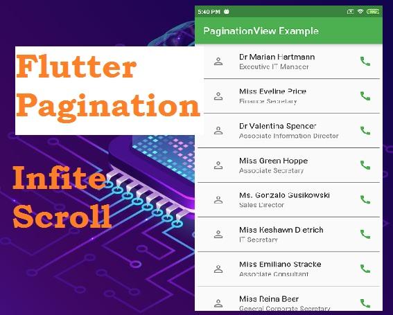 Flutter Infinite Scroll Pagination