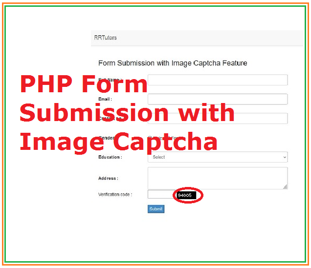 PHP Form submission with Image captcha