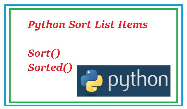 Python sort list elements
