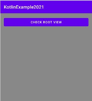 Find root view of the current screen