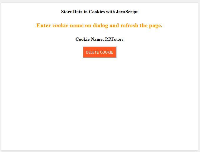 Set Cookie Javascript
