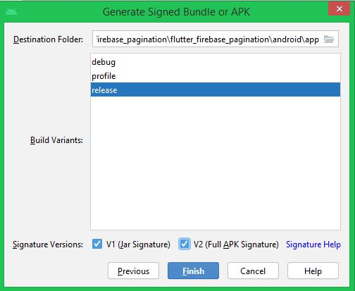 Generate Signed APK with Android studio