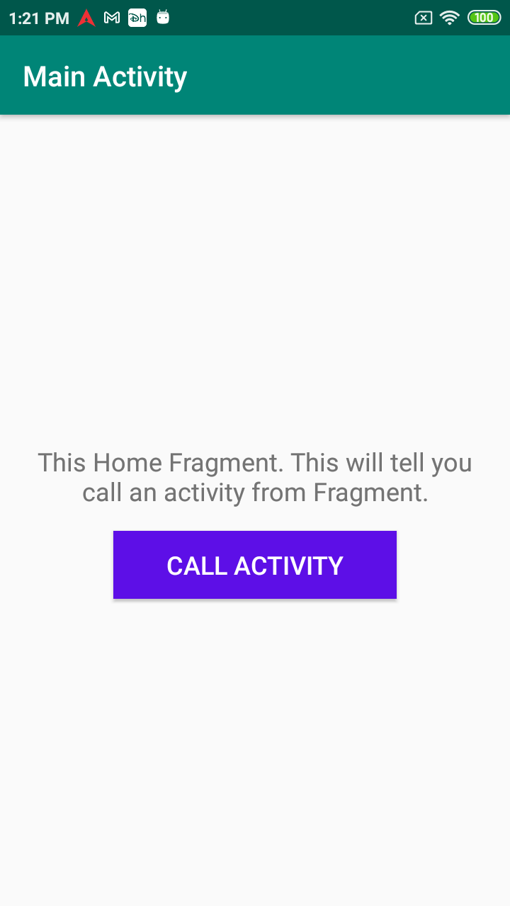 start activity from Fragment Android
