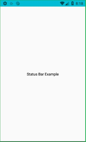 React Native Statusbar