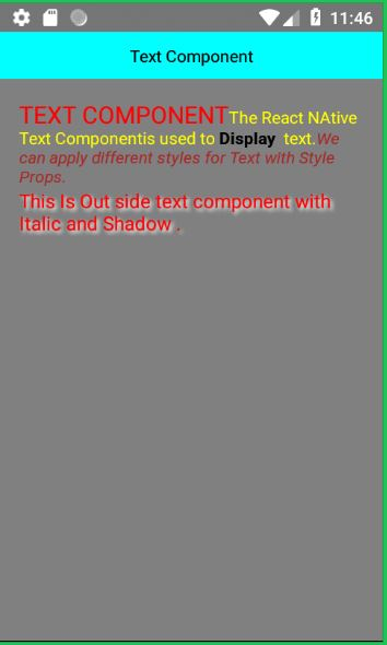 React Native Text Component
