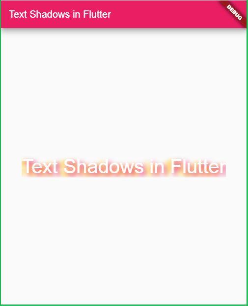 TextShadow in Flutter