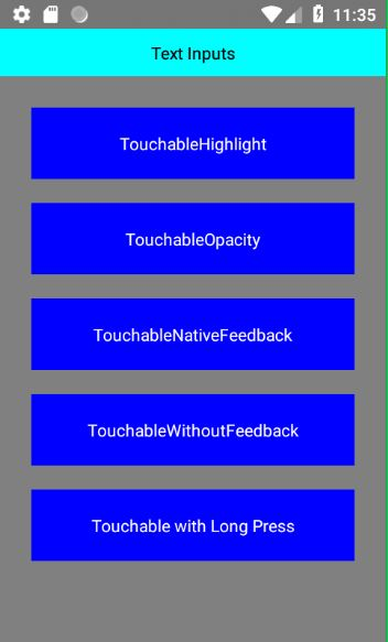 React Native Touchable Component