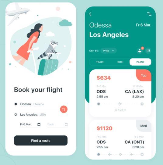 Flutter UI Challenge - Travelling App