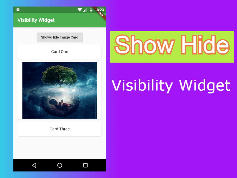 How to show or hide widget in Flutter